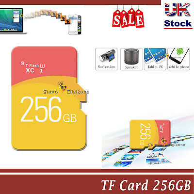 Memory TF Flash Ultra SD Card 256GB Disk SDHC  SDHC UHS-1 Ultra + Free ADAPTER