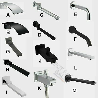 Bathroom Brass Wall Swivel Basin Bath Spout Waterfall Square Round Black Chrome