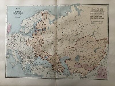 1894 Russian Empire Map From Stanford's London Atlas Of Universal Geography