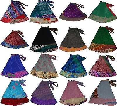 Wevez Wholesale Vintage Wrap Ethically Made Women Sari Skirts - Lot of 5 Pcs