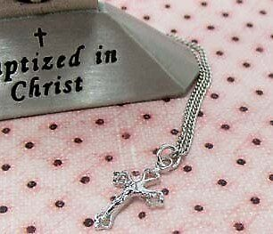 Sterling Silver Baby Crucifix Necklace