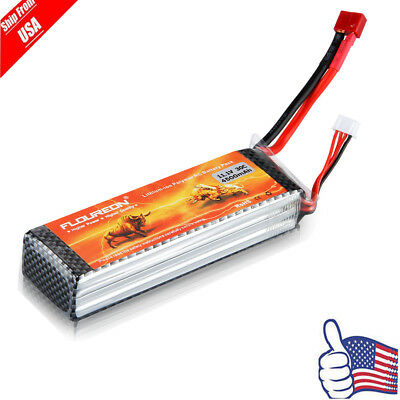 3S 11.1V 4500mAh 30C LiPo Battery T Plug For RC Evader BX Car Airplane Truck US