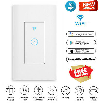 AU Smart WiFi Light Switch in Wall - Compatible With Amazon Alexa & Google home