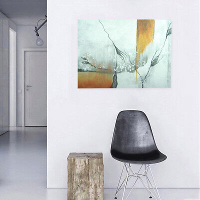 Abstract Hand Painted Oil Painting Stretched Canvas Wall Art Framed - Crack