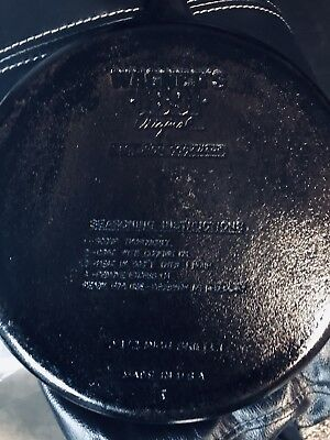 """Vintage Wagner 1891 Original 10 1/2"""" double pour Cast Iron Skillet Made in USA"""