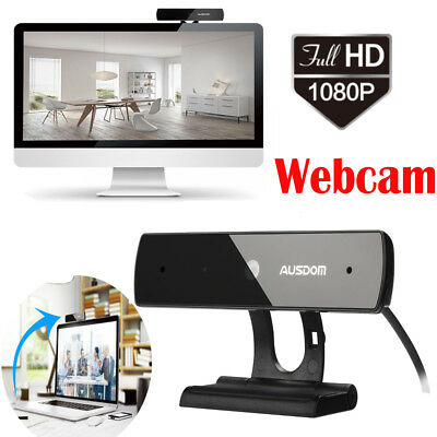 1080P Webcam USB Video Cam Camera with Microphone For Skype Web PC Computer UK