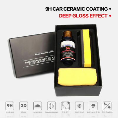 9H Liquid Nano Ceramic Car Glass Coating Super Hydrophobic Anti Scratch Kit 30ML