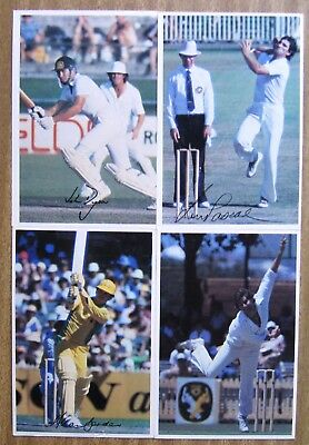1981  Scanlens Large Cricket Cards:  CRICKET  SUPER  STARS  x  4