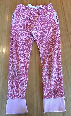 MUNSTER Kids Pink Leopard Print Drop Crotch Easy Fit 100% Cotton Track Pants 12
