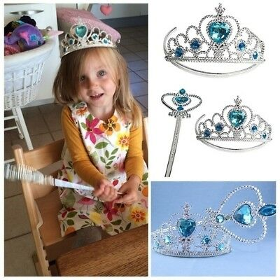 Snow Queen Girls Crown and Magic Wand Set Party Costume Kids Fun Play Toy Gift