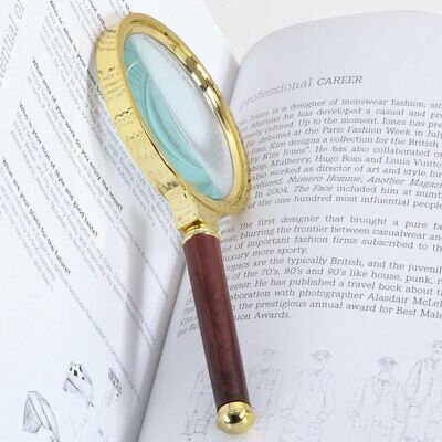 10X Magnifier Reading 90mm Handheld Jewelry Loupe Larger Round Magnifying Glass