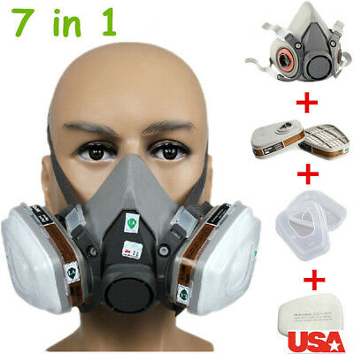 Fire Protection Frank N3800 Anti-dust Facepiece Filter Paint Spraying Cartridge Respirator Gas Mask Fire Respirators
