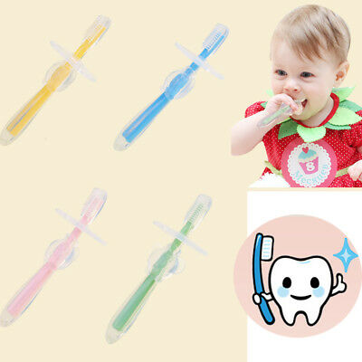 Baby Teether Training Silicone Bendable Newborn Infant Toothbrush Soft New
