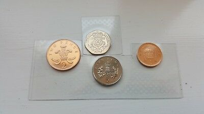 Gb Royal Mint Issued 1988 Unc 20P/5P/2P/1P-Total Of 4 Coins