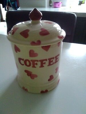 Emma Bridgewater Pink hearts coffee jar