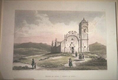 PORTUGAL, Church of Bispo. Grabado original,baron Taylor, 1826