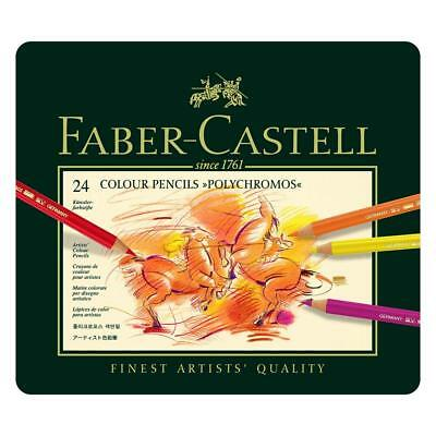 Faber-Castell Polychromos Colour Pencils Tin Of 24 Assorted