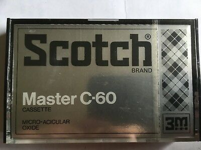 Scotch Master 60 Factory Sealed Audio Cassette Japan
