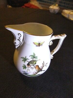 Herend Rothschild Bird 6-8 Persons Milk Jug Matching Coffee Pot Shape in Mint C