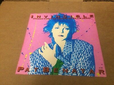 "Pat Benatar Invincible  Pic Sleeve Only No Record  7""  C1"
