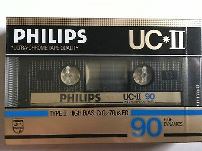 Philips Uc Ii 90 Factory Sealed Audio Cassette
