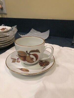 Royal Worcester Evesham Gold Tea Cup and Saucer Never Used