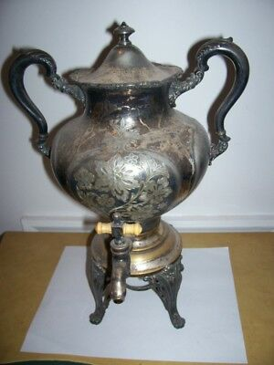 Vintage/Antique MERIDEN Silver PLATED  Coffee Urn 14 inches tall