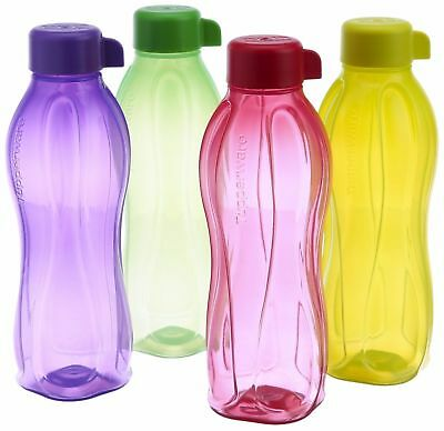 Tupperware 500 ML ECO Aquasafe Water bottles 16 oz- Set of 4- New!