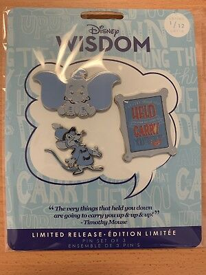 Disney Store Pin's Dumbo, collection Disney Wisdom, 1 sur 12, Édition Limitée