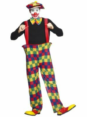 Men's Hooped Coco The Clown Fancy Dress Costume Ronald MacDonald Stag Circus Do