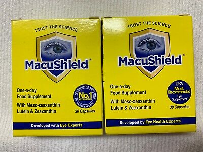 2x Macu Shield One A Day Food Supplement For Eyes 30 Capsules (Total 60 Capsules