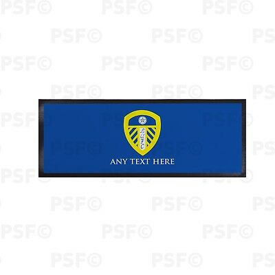 Leeds United FC Official Personalised Single Crest Blue Bar Runner LBR002