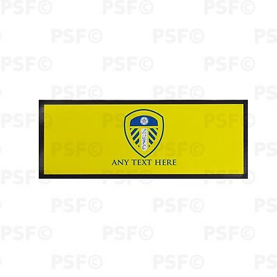 Leeds United FC Official Personalised Single Crest Yellow Bar Runner LBR004