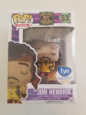 Funko Pop! Rocks #53 Jimi Hendrix Burning Guitar FYE Exclusive