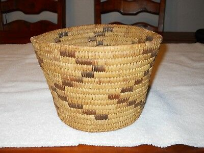 Antique CALIFORNIA INDIAN Old NATIVE AMERICAN Woven BASKET