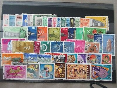 Nigeria 1960-1965 lot collection mix used and MH (320)