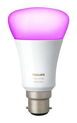 Philips Hue White and Colour Ambience Wireless Lighting B22 Bayonet Cap LED bulb