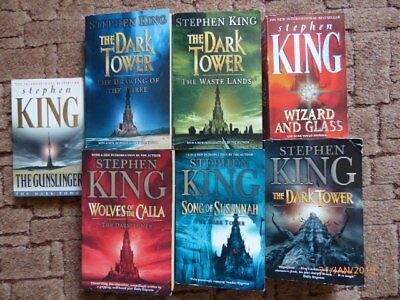The Dark Tower #1-7: Book series by Stephen King (Set of 7 Paperback)