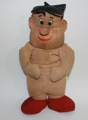 Flintstones 1961 Knickerbocker Fred Flintstone Stuffed Toy Rubber Face