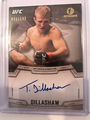 TJ Dillashaw 2014 UFC Topps 1st Auto Rookie Autographed Card, On-Card #071/149