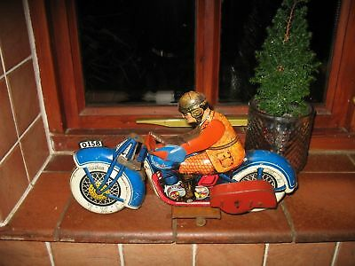 RARE HUGE JML MOTORCYCLE TIN TOY FRANCE TINPLATE LITHO VINTAGE 1930 not tippco