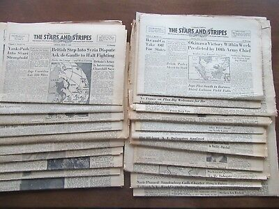 Stars and Stripes 21 issues June 1945 World War II WWII