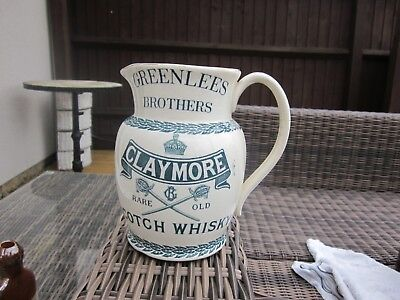 Doulton Green Lees Brothers Claymore Scotch Whisky Water Jug