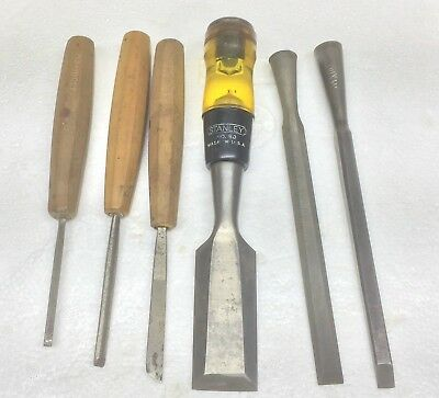 Vntage Wood Chisels Lot Of 6