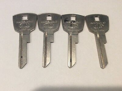 DeSoto brand automotive ignition/ door key blanks (1957-1959), set of 4