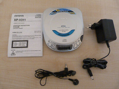 AIWA XP-V311 Portable CD Player Discman 1 Bit DAC -Tested & Works