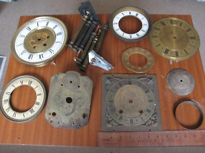 Job Lot Antique Brass Dial Spandrels French Brockot pos Lantern 18c plate Parts