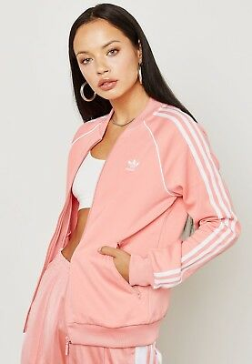 649c73bfdd ADIDAS SST TT Track Top Jacket Women's Lagre Tactile Rose Dh3162 New ...