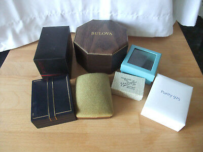 Job Lot of 7 Jewellery Boxes Old and Modern – Useful