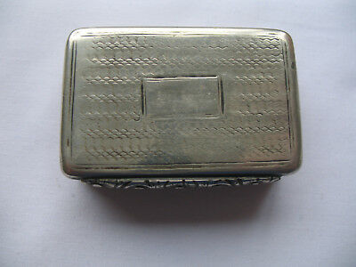 Sterling Silver Probably Georgian Snuff Box - London